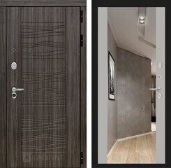 Labirint doors SCANDI Дарк грей с Зеркалом Максимум - Софт Грей