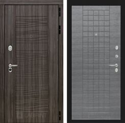 Labirint doors SCANDI Дарк грей 09 - Лен сильвер грей